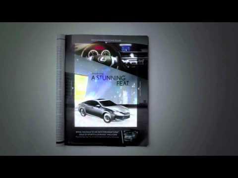Lexus Print advertisement integrates iPad