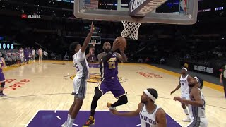LeBron James' first field goal back is a tough and-one | Lakers vs Kings