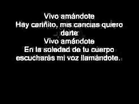 Vivo Amándote-Lalo Rodriguez [Letra] ♥