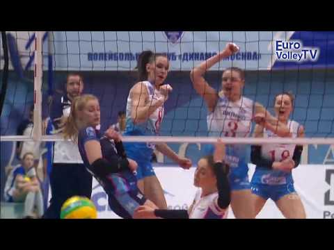 #CLVolleyW - Monster block for Nataliya GONCHAROVA as Dinamo MOSCOW take another win