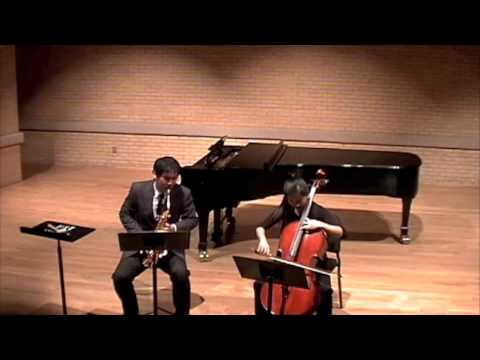 Bid Call for alto saxophone and cello by Libby Larsen-II.Traige
