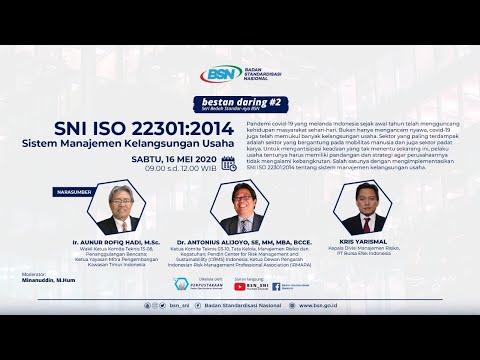 https://youtu.be/hd-y8VKDS5ESNI ISO 22301:2014 Sistem Manajemen Kelangsungan Usaha