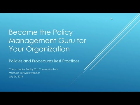 Official Webinar: Become the Policy Management Guru for Your Organization