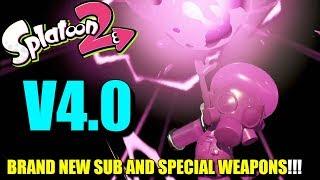 Splatoon 2 - BRAND NEW SUB & SPECIAL WEAPONS, KENSA COLLECTION!? (Splatoon 2 Version 4)