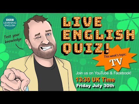 Live English Quiz - #22 - Television