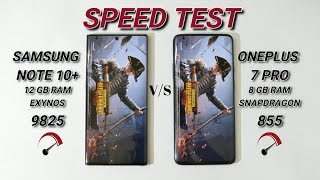 Oneplus 7  Pro 8Gb Ram Vs Samsung Note 10+ 12Gb Ram Speed test 🔥🔥 🔥