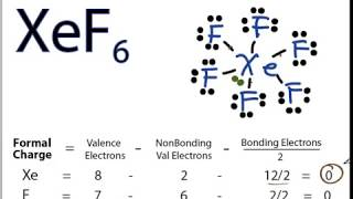 XeF6 Lewis Structure - How to Draw the Lewis Structure for XeF6
