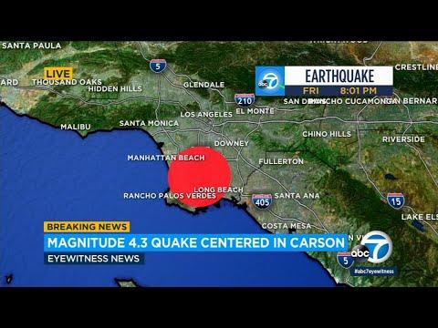 4.3 magnitude earthquake hits Carson area, shakes SoCal | ABC7
