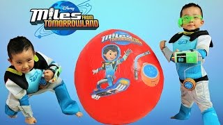 Disney Miles From Tomorrowland Super Giant Surprise Eggs Toys Opening  Ckn Toys
