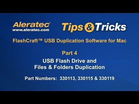 How To Duplicate USB Flash Drives, Files & Folders Using FlashCraft™ - Aleratec Tips & Tricks Part 4