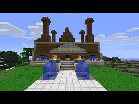 Minecraft costruzioni villa youtube for Case futuristiche