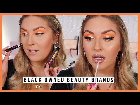 full face using BLACK OWNED beauty brands! ?