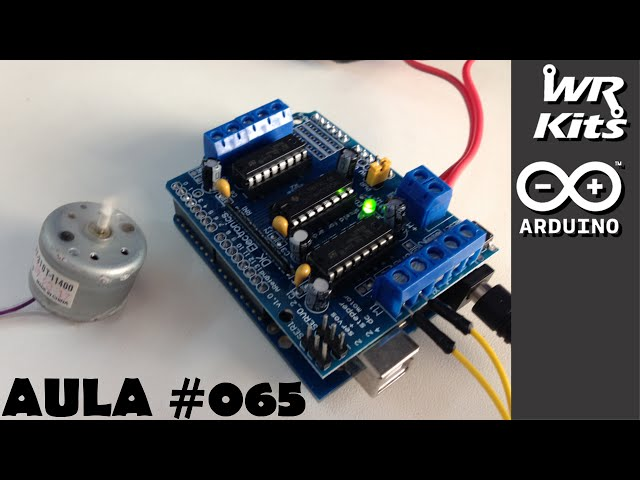 CONTROLE DE MOTOR DC COM SHIELD | Curso de Arduino #065