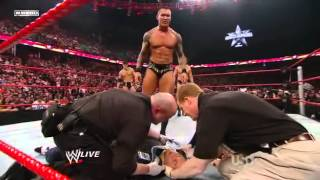 Wwe randy Orton RKOs Triple H's wife