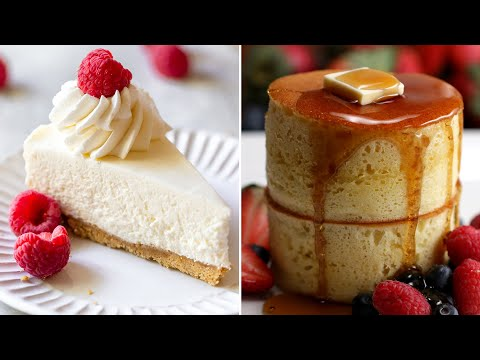 Quick and Easy No Bake Cheesecake and Chocolate Pancakes Recipes | Delicious Recipes in 1 Minute