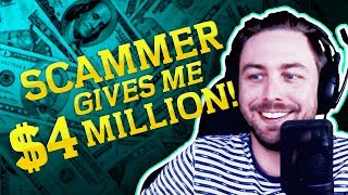 REFUND SCAMMER GIVES ME $4,000,000 | SCAMBAIT TROLLING