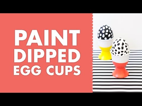 DIY Paint Dipped Porcelain Easter Egg Cups