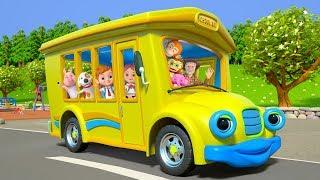 Wheels On The Bus   Kindergarten Nursery Rhymes for Kids   Cartoons for Children   Little Treehouse