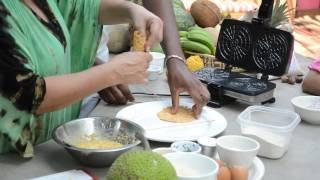 Crabmeat Pizzelle with Gluten Free Breadfruit Flour