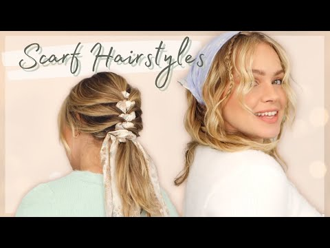 6 Hairstyles with Scarves 90's, Cottage Core, and More! – KayleyMelissa