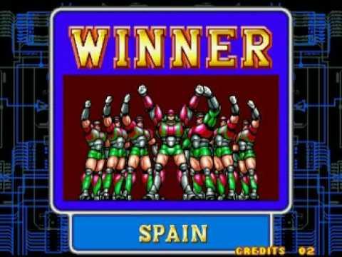 Soccer Brawl - Fin del juego con España