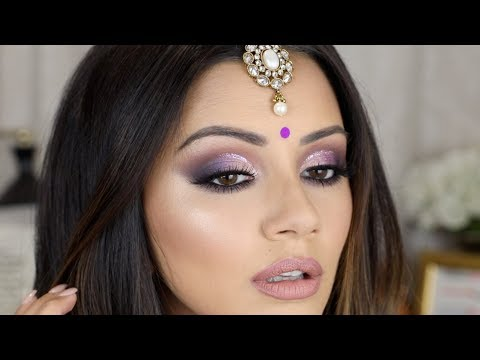 PURPLE CUT CREASE ? DIWALI MAKEUP TUTORIAL 2017 ?