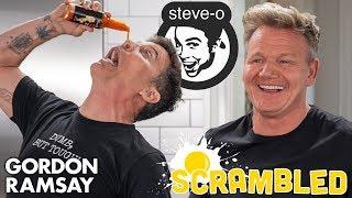 Steve-O Shocks Gordon Ramsay While Making A Southwestern Omelette | Scrambled