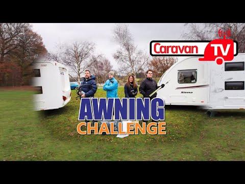 Awning Challenge Caravan Magazine Video Shootout Vango Varkala 280 Air Vs Pole Awning