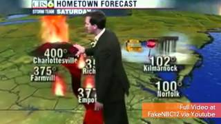 Weatherman Forecasts Volcano Eruption, 1,000 MPH Winds and Godzilla Attack