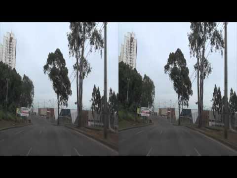 3D - Um Passeio pelas Ruas de Curitiba - Sony HDR-TD10