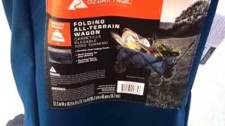 Ozark Trail Folding All-Terrain Wagon Review Unboxing
