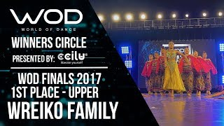 WREIKO Family | 1st Place Upper | Winner's Circle | World of Dance Finals 2017 | #WODFINALS17