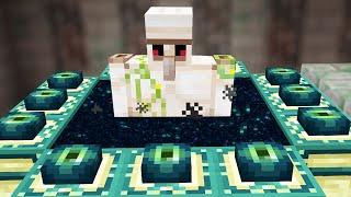 Beating Minecraft but I'm an Iron Golem