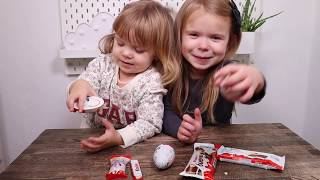 Kinder TASTE TEST med min lillesøster
