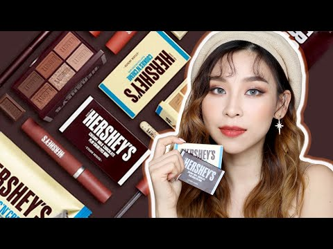 New Hershey's Makeup Collection 🍫 Yay or Nay?| TINA TRIES IT