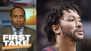 Stephen A. Smith: Cavaliers shouldn't want Derrick Rose back on team | First Take | ESPN