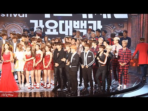 151231 가요대제전 countdown & Jungkook's speech - 방탄소년단 BTS VIXX SHINee INFINITE B1A4