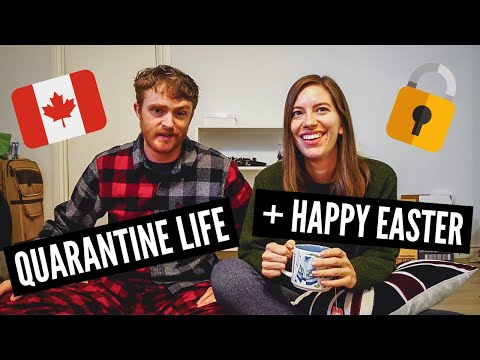 QUARANTINE LIFE in Canada vlog 🇨🇦 | Happy Easter + Cooking Oven Roast Lamb
