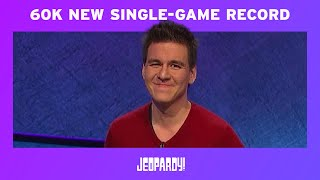 James Holzhauer: New Single-Game Record | JEOPARDY!