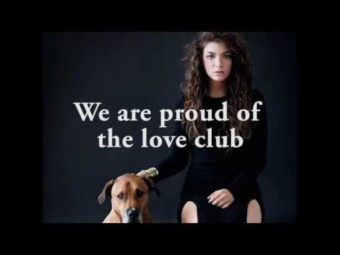 Lorde - The Love Club (lyric video)