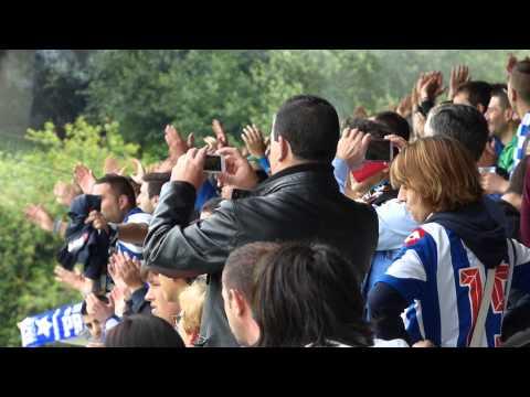 VIDEO - Afición del Deportivo en el entrenamiento de Abegondo.
