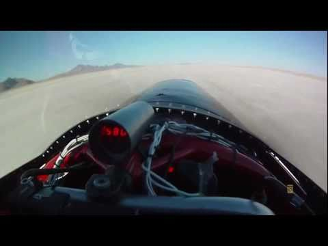 Rocky Robinson Smashing the Land Speed Record [More than 600kmph]