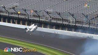 Kyle Kaiser crashes during Indianapolis 500 practice | Motorsports on NBC - YouTube