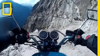 Travel by Motorcycle on a Dangerous Indian Himalaya Mountain Road | National Geographic