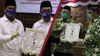 Undian Nomor Cabup Rembang, Harno-Bayu Dapat Nomor 1, Hafidz-Hanies Nomor 2