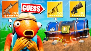 Fortnite Except I Have to GUESS the BUNKER CHEST Loot