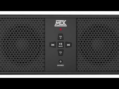 MTX Audio's MUD6SPBT Universal Weather-Resistant Soundbar with Bluetooth