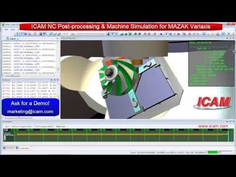 ICAM Technologies- NC Post-processing, CNC Machine Simulation, G-code simulation emulation