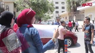 اتفرج | وقفة احتجاجية لطلاب الثانوية العامة أمام وزارة التربية والتعليم     -