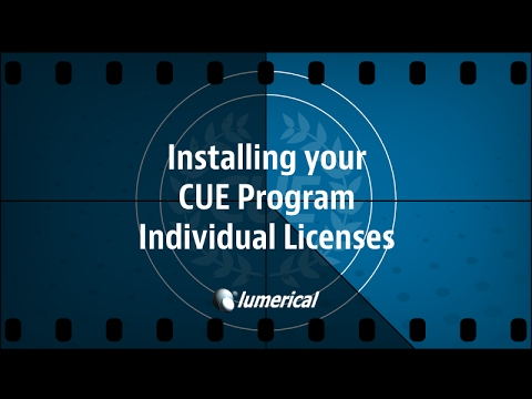 Lumerical Software: Individual CUE License Installation